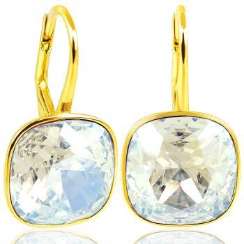 NOBEL SCHMUCK Ohrringe Gold Crystal Moonlight - Kristalle von Swarovski® 925 Sterling