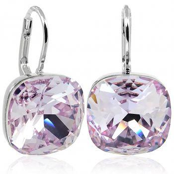 Ohrringe mit Kristalle von Swarovski® Silber Violett Lila NOBEL SCHMUCK