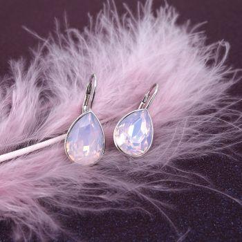 925 Silberohrringe mit Kristallen von Swarovski® Rosa NOBEL SCHMUCK