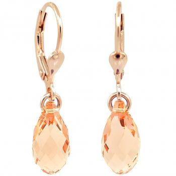 Ohrringe Ohrhänger Silber Rosegold VIELE FARBEN mit Swarovski® Kristallen NOBEL SCHMUCK
