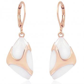 Ohrringe Rosegold Weiß Damen Ohrhänger von NOBEL SCHMUCK