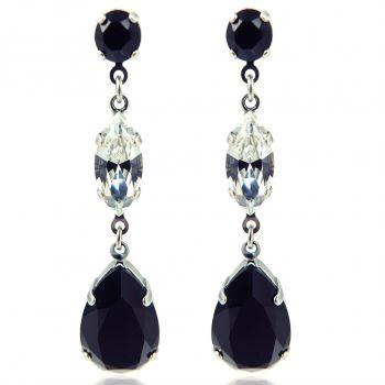 Ohrringe mit Kristallen von Swarovski® Silber Viele Farben Ohrhänger NOBEL SCHMUCK