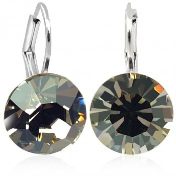 Ohrringe mit Kristallen von Swarovski® Silber Grau NOBEL SCHMUCK