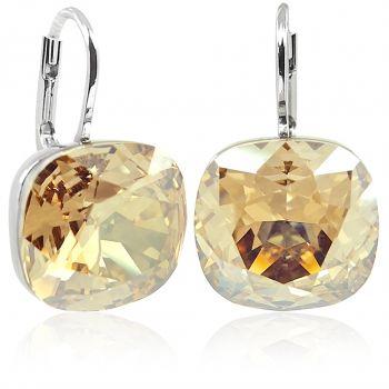 Ohrringe mit Kristallen von Swarovski® Silber Golden Shadow NOBEL SCHMUCK