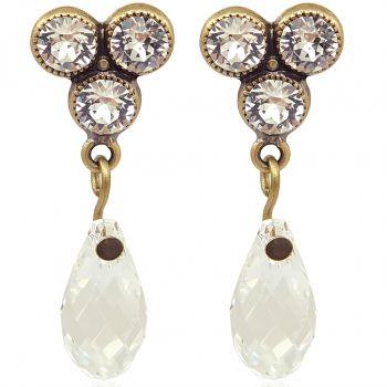 Ohrringe mit Kristalle von Swarovski® Gold Ohrstecker NOBEL SCHMUCK