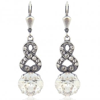 Ohrhänger mit Kristallen von Swarovski® Silber Crystal NOBEL SCHMUCK
