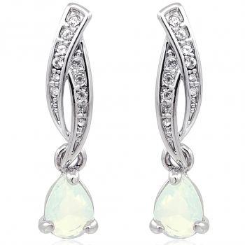 Ohrringe Ohrstecker Ohrhänger Kristallen von Swarovski® Silber Damen NOBEL SCHMUCK