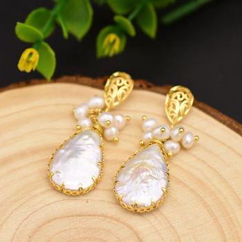 Perlenohrringe mit Backockperle Gold romantisch NOBEL SCHMUCK