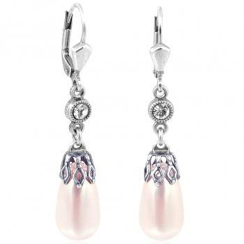 Perlen-Ohrringe mit Markenkristallen Silber Viele Farben NOBEL SCHMUCK
