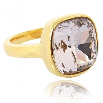 Ring mit Kristall von Swarovski® Gold Violett NOBEL SCHMUCK