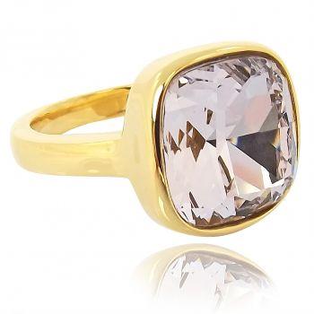 Ring mit Markenkristall Gold Violett NOBEL SCHMUCK