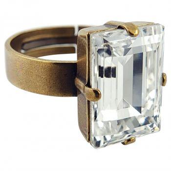 Damen-Ring mit Kristall von Swarovski® Gold Größe Variabel NOBEL SCHMUCK