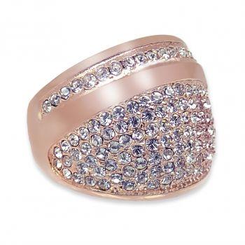 Damen-Ring Rosegold Gr. 54 mit Kristallen von Swarovski® NOBEL SCHMUCK