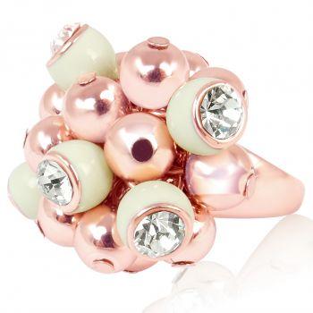 Ring Cocktailring Rosegold mit Kristalle von Swarovski®