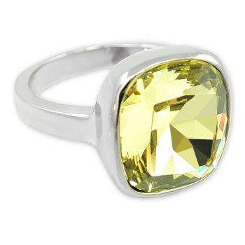 Damen-Ring Silber Gelb mit Markenkristall NOBEL SCHMUCK