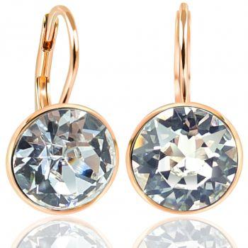 NOBEL SCHMUCK Ohrringe Rosegold Crystal mit Kristallen von Swarovski® 925 Sterling