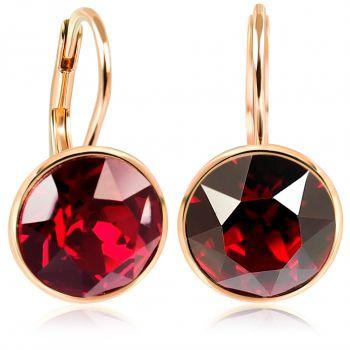 NOBEL Ohrringe Rosegold mit Kristallen 925 Sterling Silberohrringe Damen