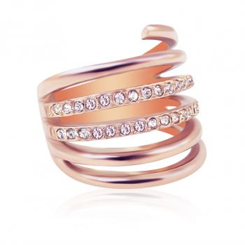 Ring Rosegold mit Kristalle von Swarovski® NOBEL SCHMUCK