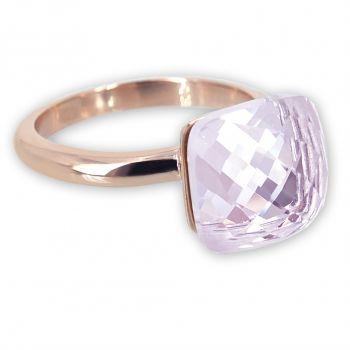 Damen-Ring Rosegold Rosa Kristall Cocktailring Zusteckring für Frauen NOBEL SCHMUCK