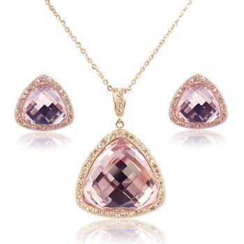 Schmuck-Set Rosegold Rosa mit Kristallen von Swarovski® NOBEL SCHMUCK