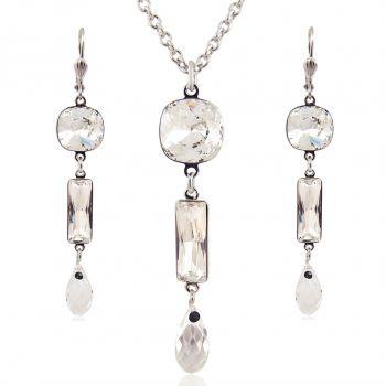 Schmuck-Set mit Kristallen von Swarovski® Silber Crystal NOBEL SCHMUCK