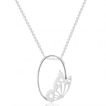Kette Schmetterling 925 Sterling Silber NOBEL SCHMUCK