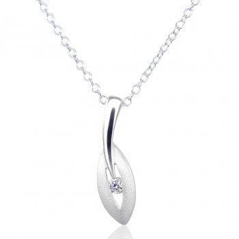 Silber-Kette Halskette mit Anhänger Damen 925 Sterling Silver NOBEL SCHMUCK