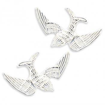 Damen-Ohrstecker Schwalbe Ohrringe 925 Sterling Silber oder Vergoldet NOBEL SCHMUCK