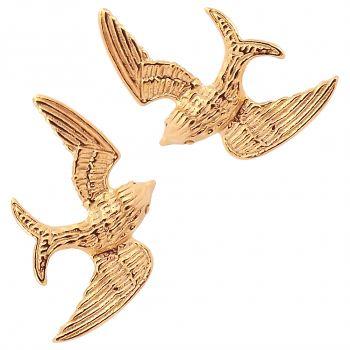Ohrstecker Schwalbe 925 Sterling Silber vergoldet Ohrringe von NOBEL SCHMUCK