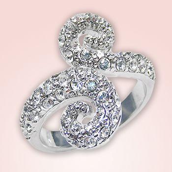 Ring mit Kristallen von Swarovski® Größe 52 Silber - NOBEL SCHMUCK