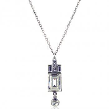 Silberne Kette Art Deco mit Kristallen von Swarovski® Crystal NOBEL SCHMUCK