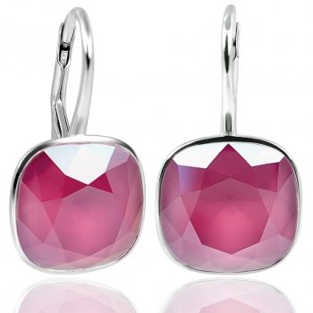 NOBEL SCHMUCK Ohrringe Silber Pink mit Kristallen von Swarovski® 925 Sterling