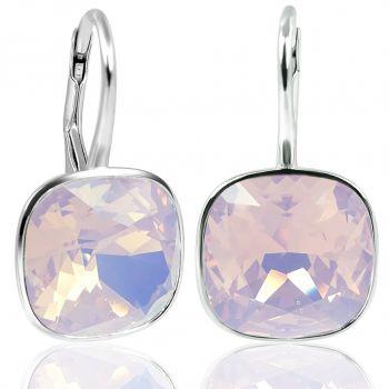 Damen-Ohrringe Rosa mit Kristallen von Swarovski® 925 Silber NOBEL SCHMUCK