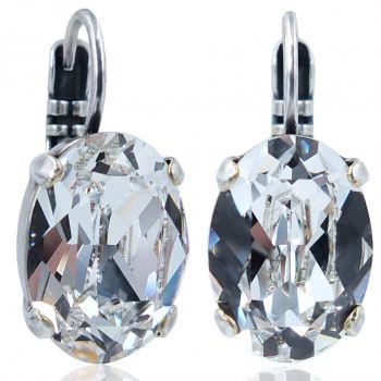 Ohrhänger mit Kristallen von Swarovski® Silber NOBEL SCHMUCK
