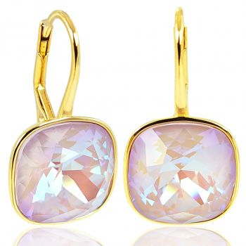 NOBEL SCHMUCK Ohrringe 925 Silber vergoldet Rosa mit Kristallen von Swarovski®