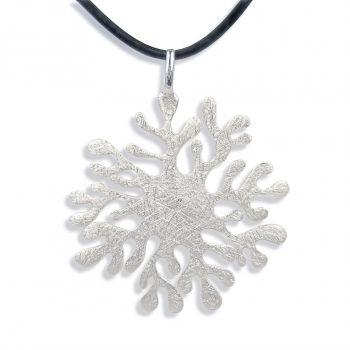 Damen-Kette Halskette Sonne 925 Sterling Silber NOBEL SCHMUCK