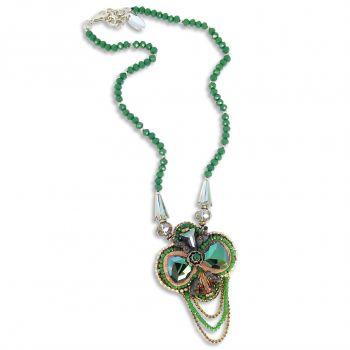 Statement Kette mit Kristallen von Swarovski® Grün NOBEL SCHMUCK
