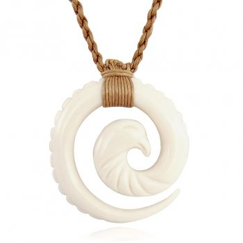 Surferkette Horn Adler Eagle Rockabilly Büffelhorn Hawaii-Kette NOBEL SCHMUCK
