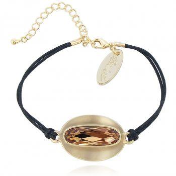Armband mit Kristalle Gold oder Silber - schlicht und modern NOBEL SCHMUCK