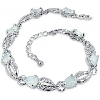 Armband mit Markenkristallen Silber NOBEL SCHMUCK