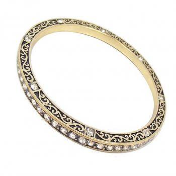 Armreif Gold Ornament Hippie Style Antikisiert NOBEL SCHMUCK