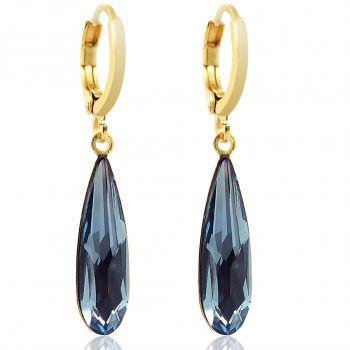 Creolen mit Kristallen von Swarovski® Gold Viele Farben NOBEL SCHMUCK