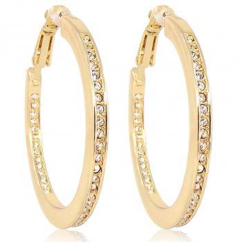 Creolen mit Markenkristallen Gold Ohrringe NOBEL SCHMUCK