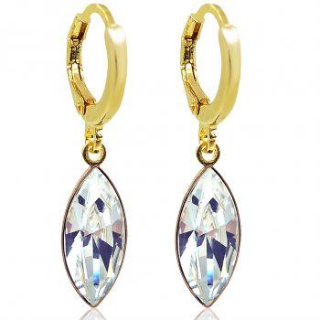 Creolen mit Kristallen von Swarovski® Gold Crystal NOBEL SCHMUCK