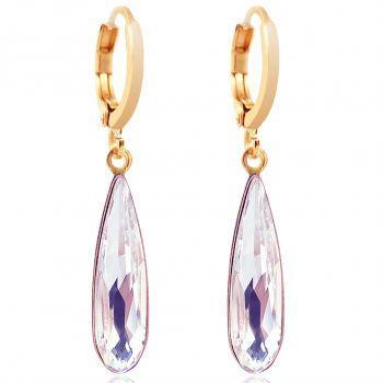 Creolen Gold mit Kristallen von Swarovski® Crystal NOBEL SCHMUCK