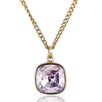 Kette Kristall von Swarovski® Gold Rosa Violett NOBEL SCHMUCK