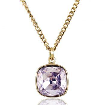 Damen-Kette Lang Markenkristall Gold beschichtet NOBEL SCHMUCK