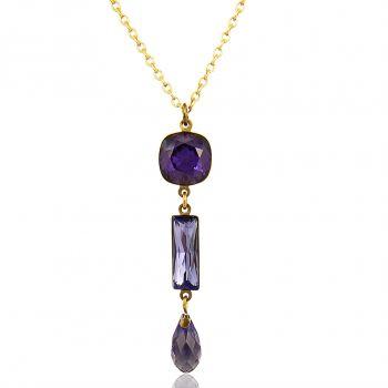 Kette mit Kristallen von Swarovski® Gold viele verschiedene Farben NOBEL SCHMUCK