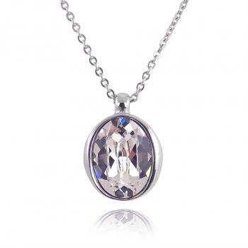Kette mit Kristallen von Swarovski® Silber Damen Halskette NOBEL SCHMUCK