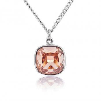 Lange Kette mit Kristall von Swarovski® Damen Halskette Silber Braun NOBEL SCHMUCK